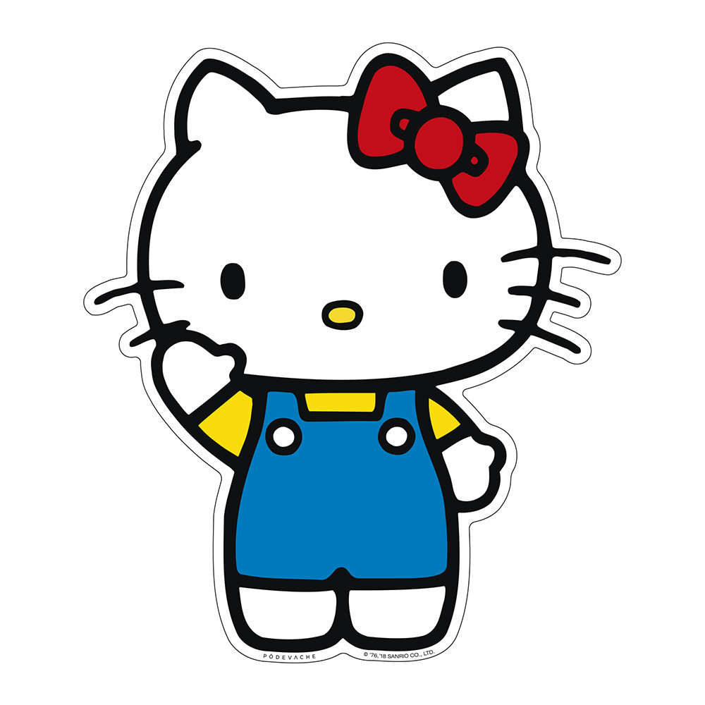 Hình ảnh Hello Kitty giơ tay xin chào đáng yêu