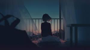 Hình nền 2K cô gái tóc ngang vai cô đơn trong căn phòng vắng u tối