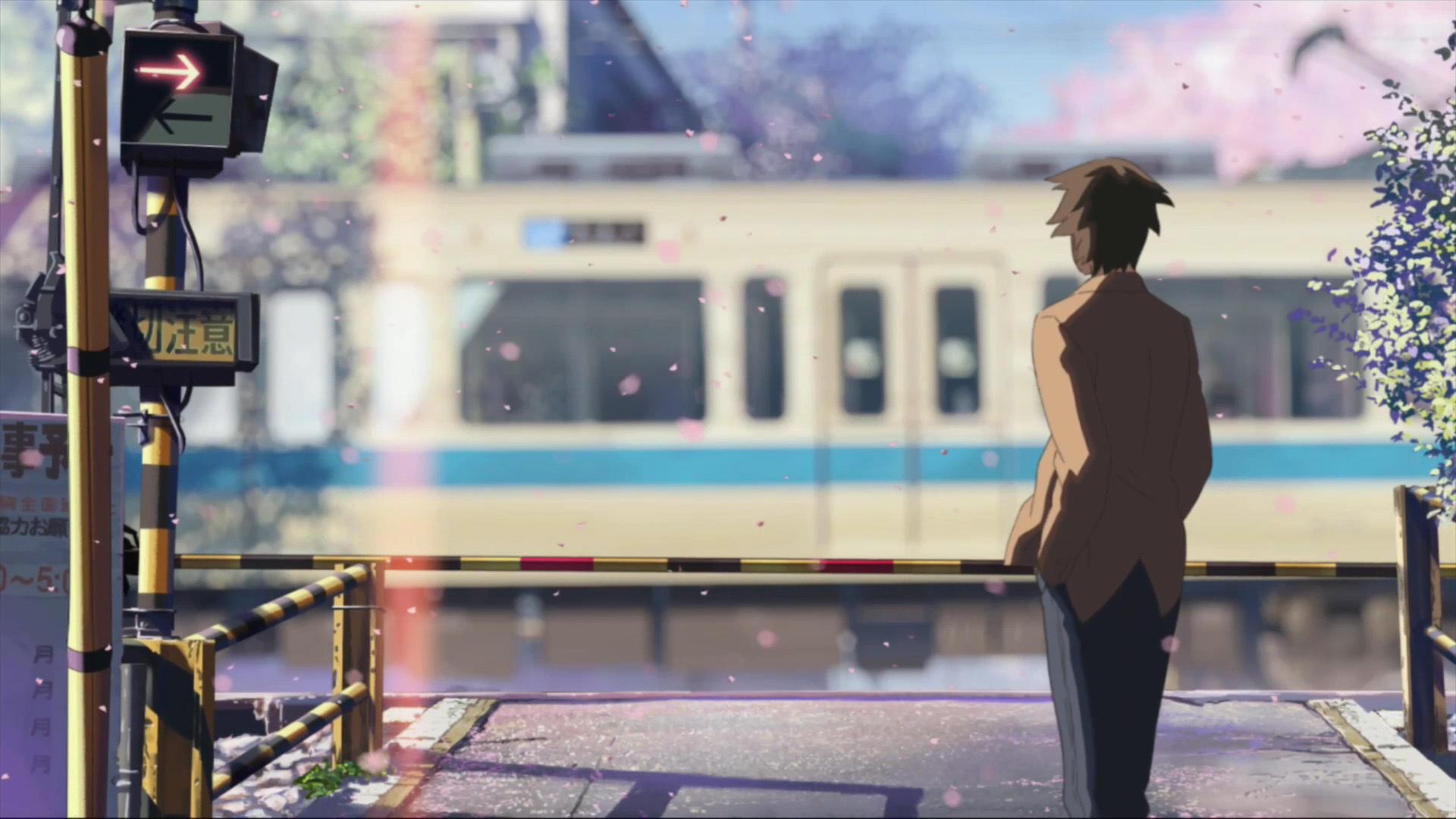 Hình nền anime chàng trai cô đơn chờ ai
