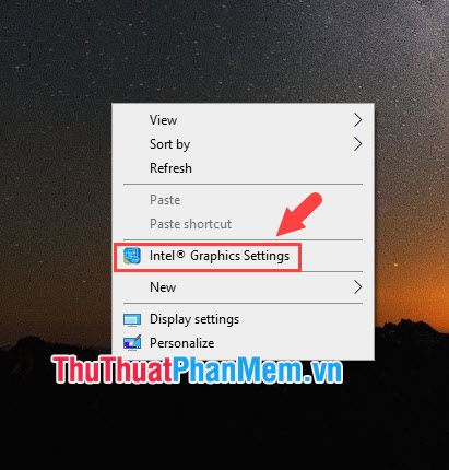 Chọn Intel Graphics Settings