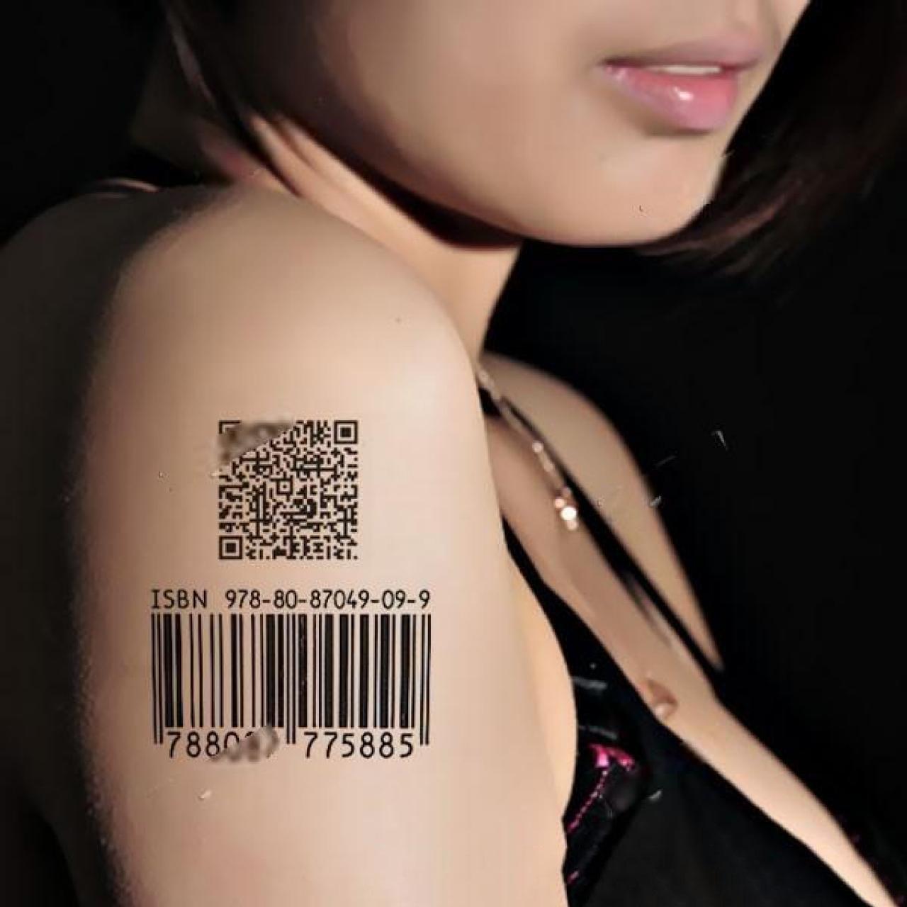 Hình xăm mã vạch cho nữ