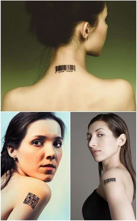 Mẫu hình xăm mã vạch cho nữ
