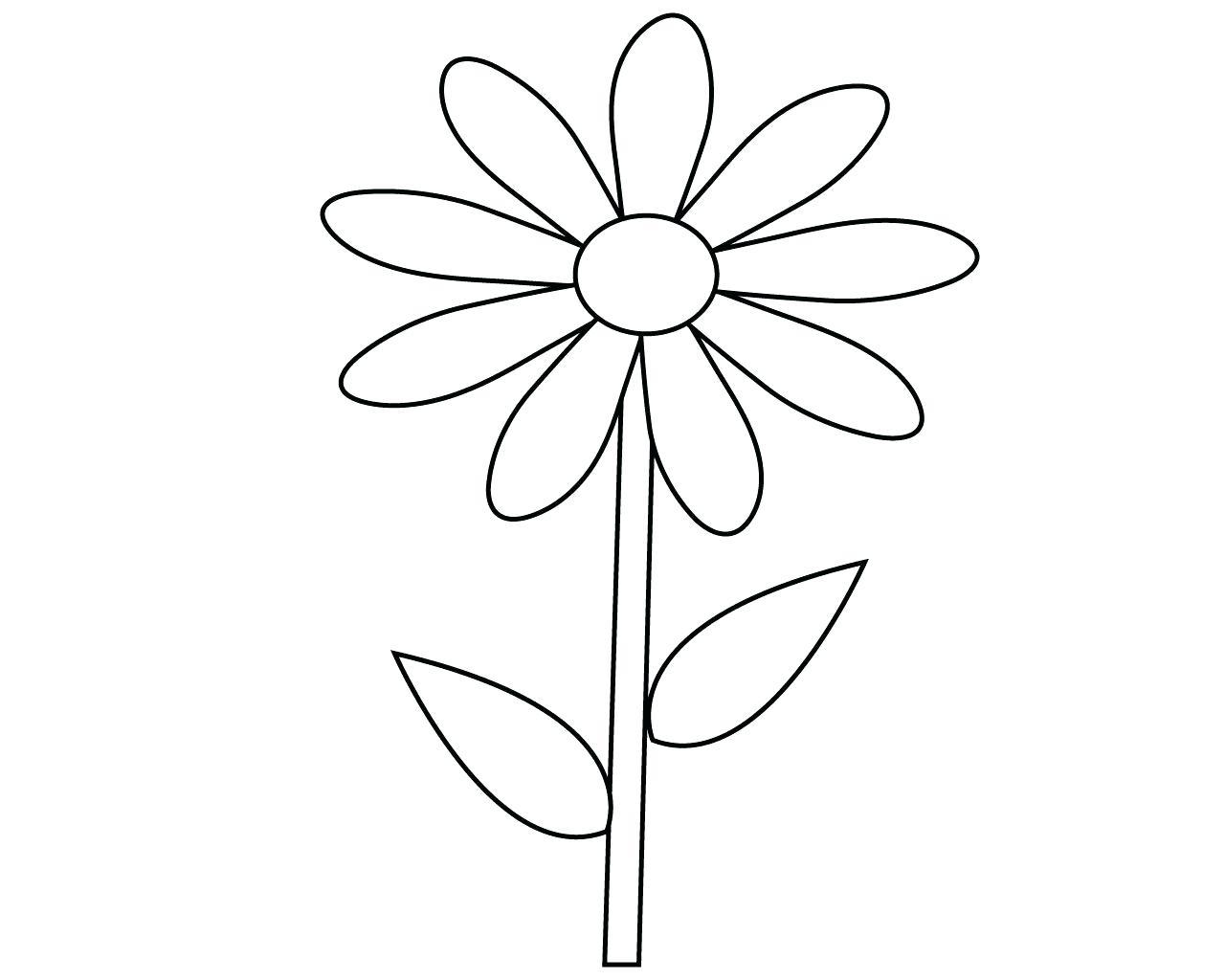 Tranh tô màu bông hoa đẹp cho bé