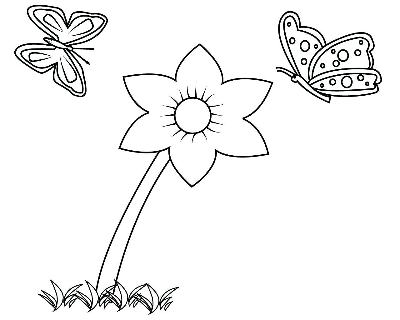 Tranh tô màu bông hoa đơn giản cực đẹp cho bé