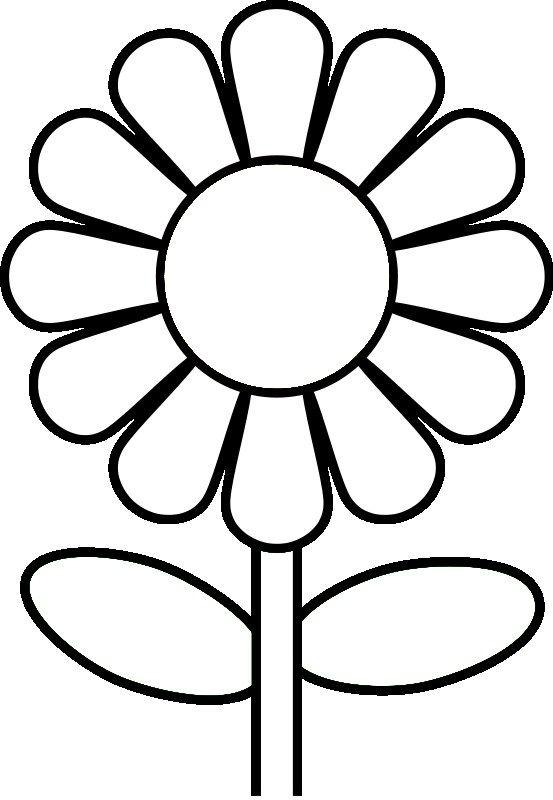 Tranh tô màu bông hoa đơn giản mà đẹp