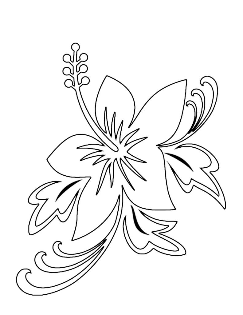 Tranh tô màu bông hoa nở đẹp