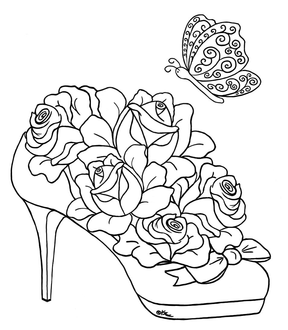Tranh tô màu bông hoa sáng tạo