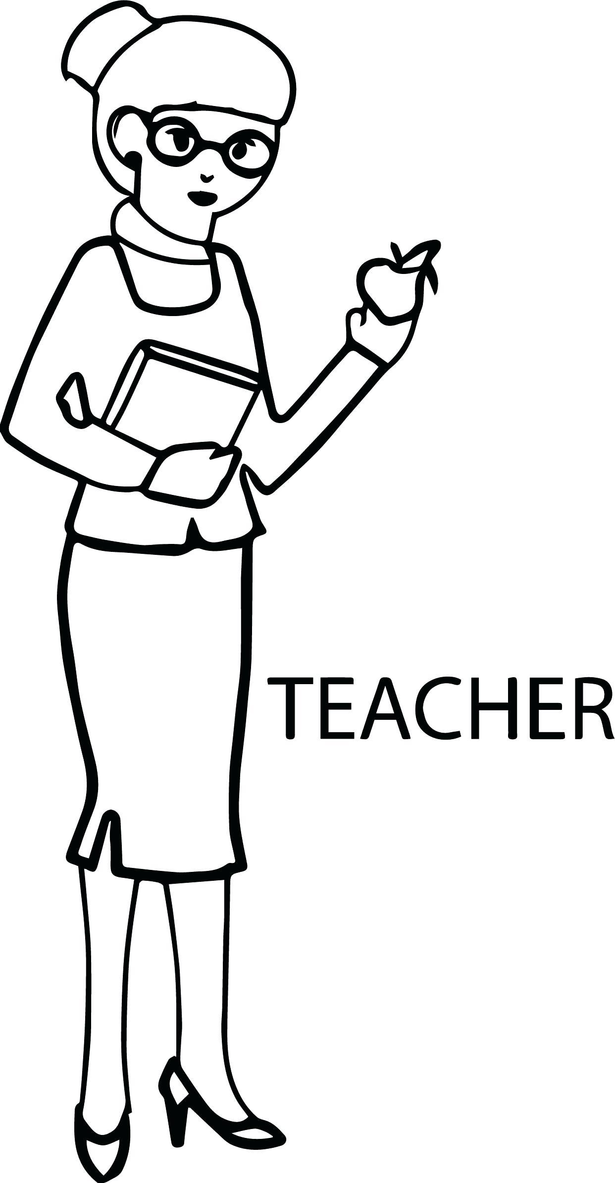 Tranh tô màu cô giáo cho trẻ