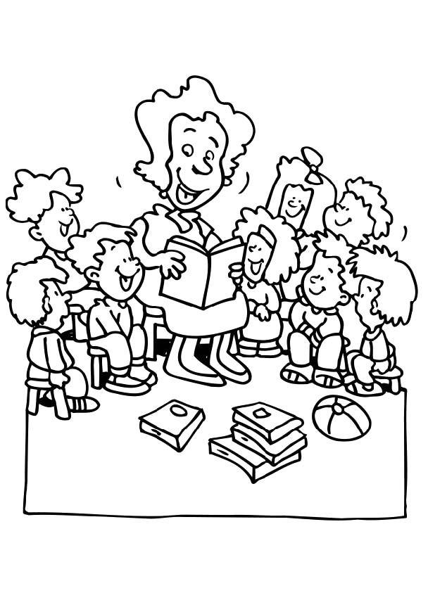 Tranh tô màu cô giáo đơn giản cho bé cực đẹp