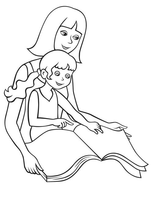 Tranh tô màu cô giáo đơn giản cho bé