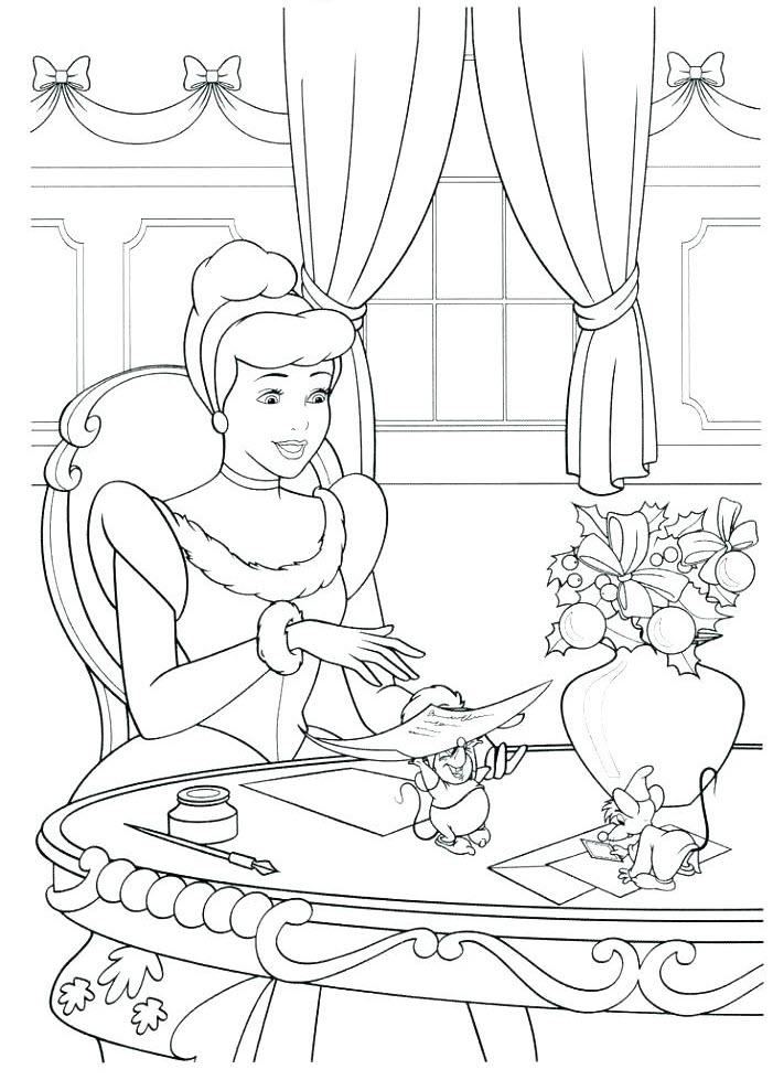 Tranh tô màu công chúa lọ lem đáng yêu cho bé cực đẹp