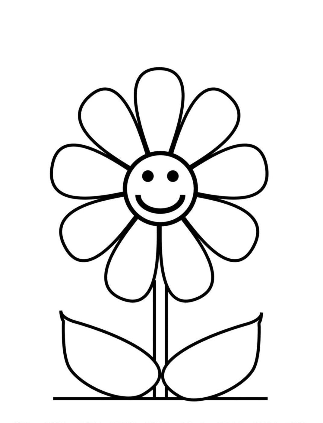 Tranh tô màu hoa đẹp cho bé