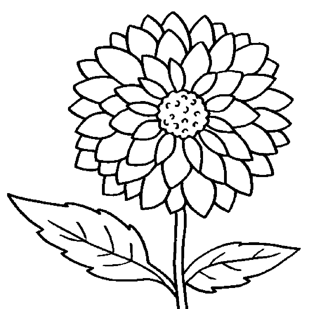 Tranh tô màu hoa hướng dương đơn giản đẹp