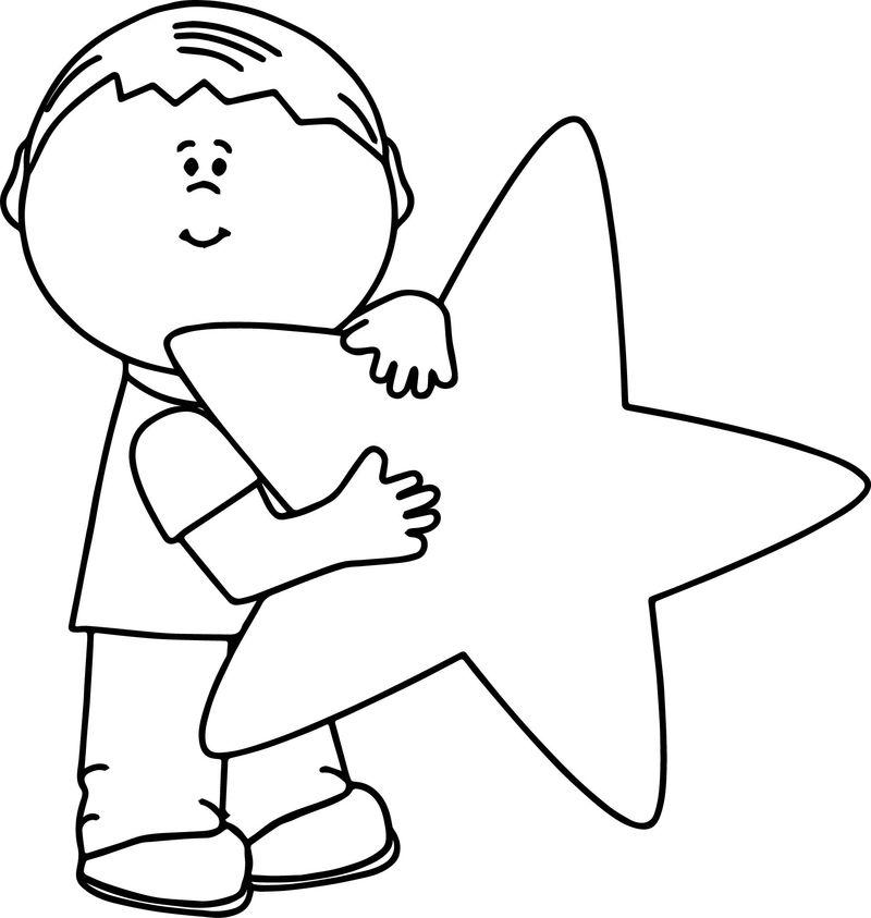 Tranh tô màu ngôi sao đáng yêu dễ thương