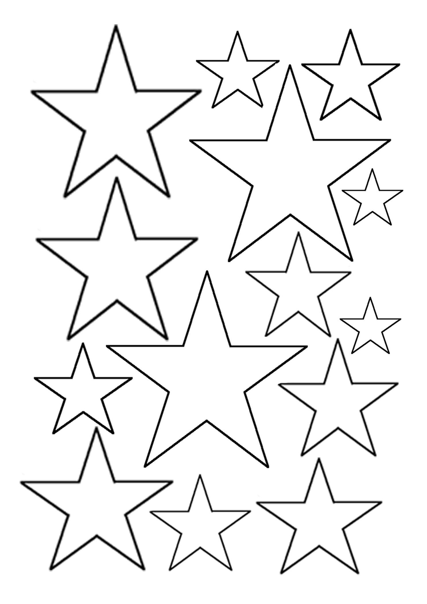 Tranh tô màu ngôi sao dễ thương cho bé