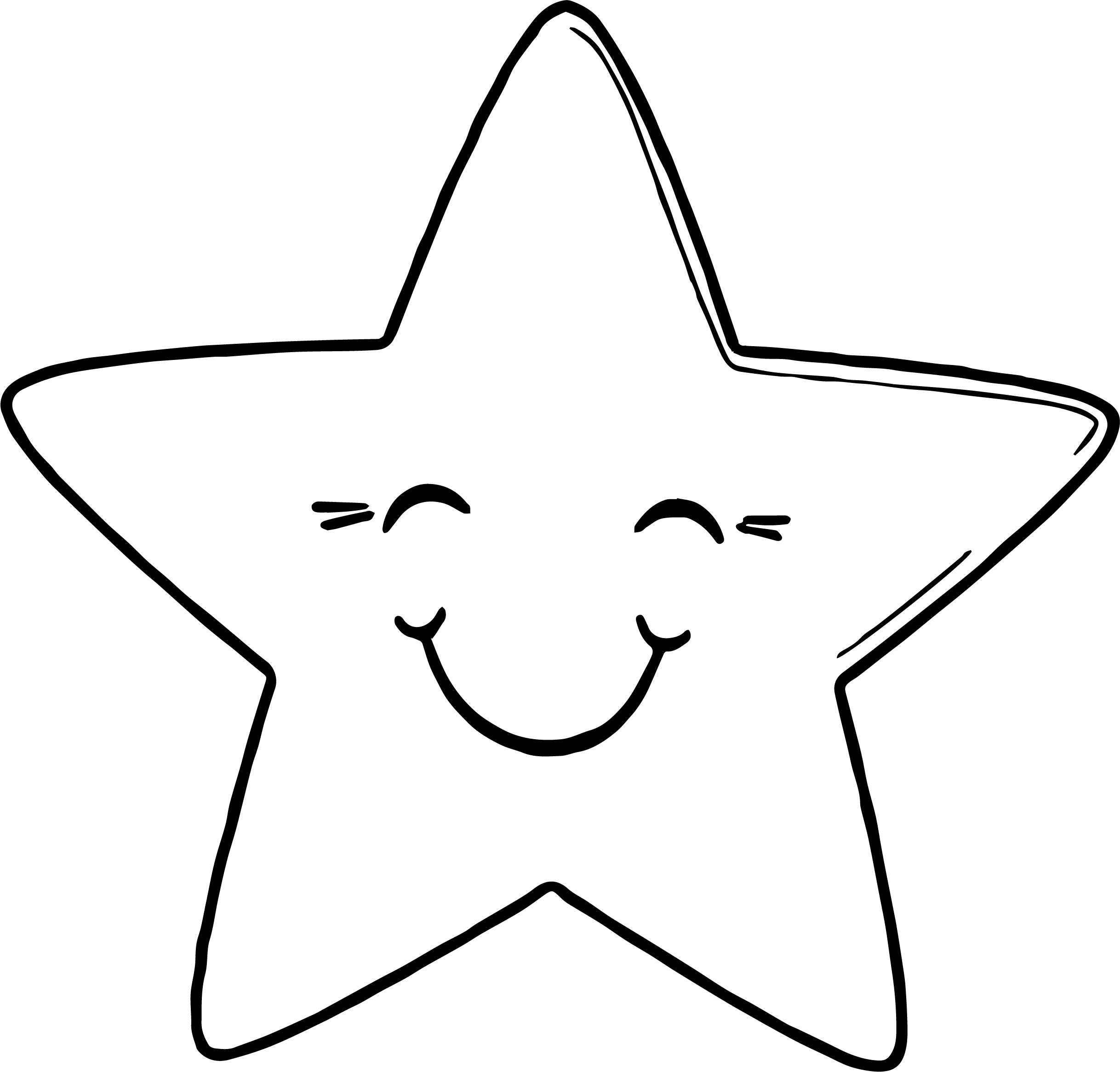 Tranh tô màu ngôi sao dễ thương