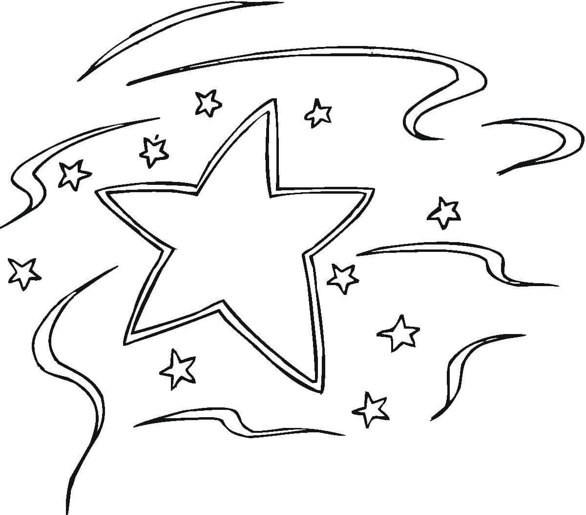 Tranh tô màu ngôi sao đẹp đơn giản đẹp nhất