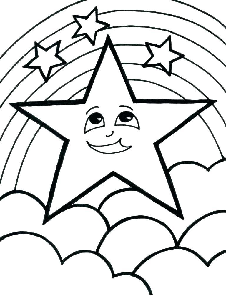 Tranh tô màu ngôi sao đẹp đơn giản