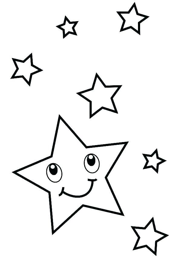 Tranh tô màu ngôi sao đơn giản cho bé đẹp