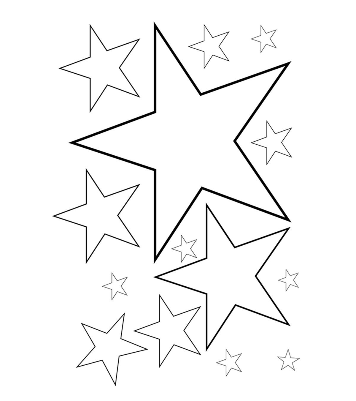 Tranh tô màu ngôi sao đơn giản cho bé