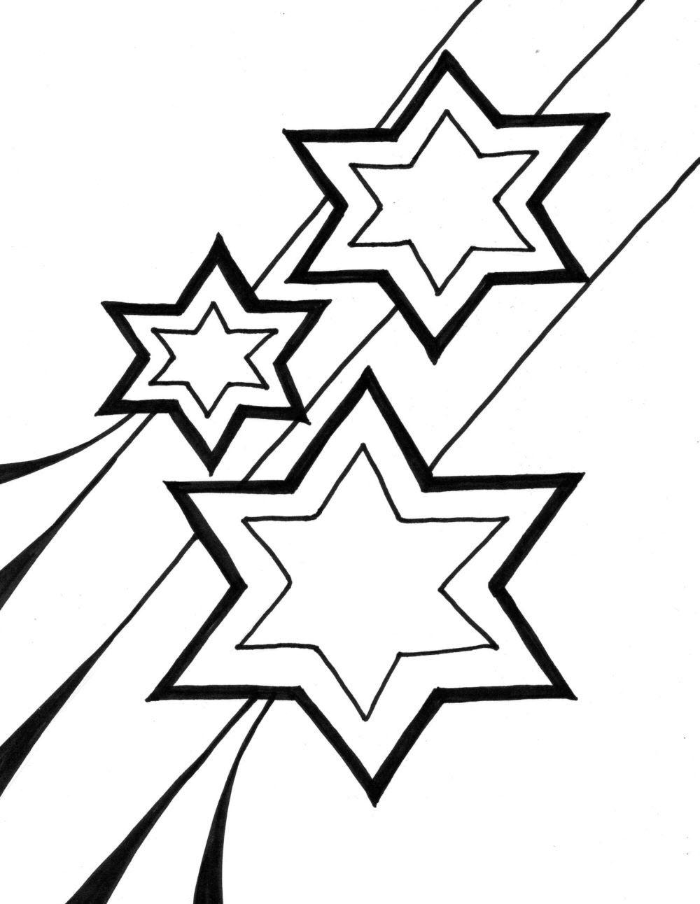 Tranh tô màu ngôi sao đơn giản đẹp nhất cho bé