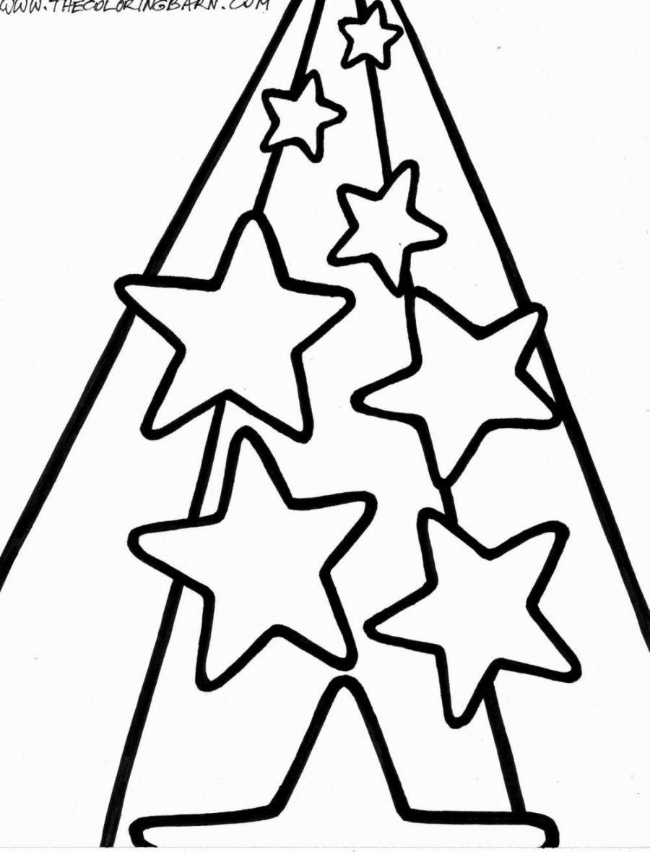 Tranh tô màu ngôi sao đơn giản ngộ nghĩnh
