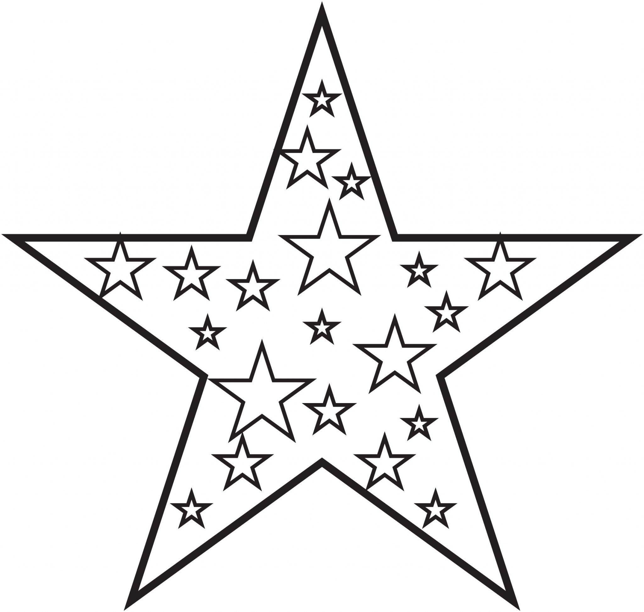 Tranh tô màu ngôi sao đơn giản