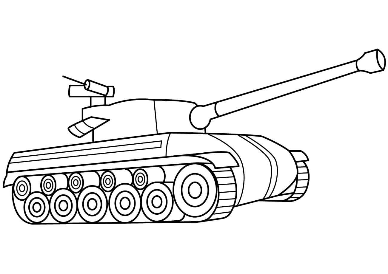 Tranh tô màu xe tank cho bé
