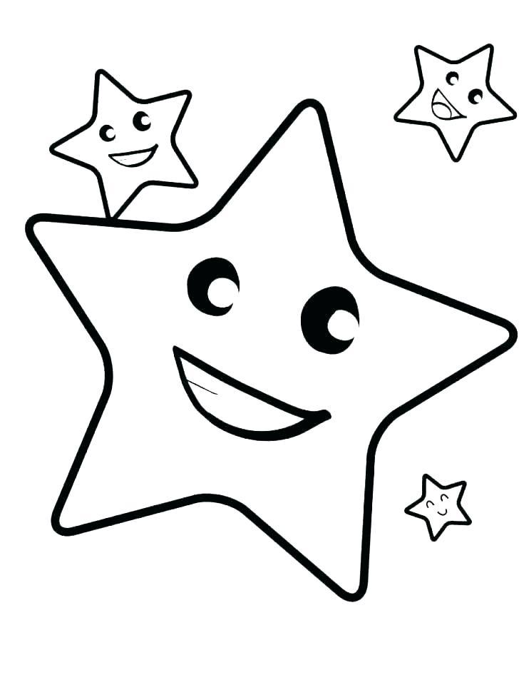 Tranh vẽ ngôi sao tô màu cho bé đẹp