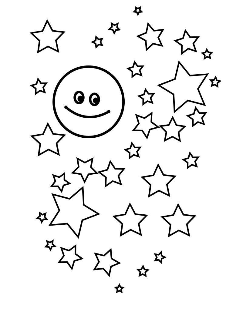 Tranh vẽ ngôi sao tô màu cho bé