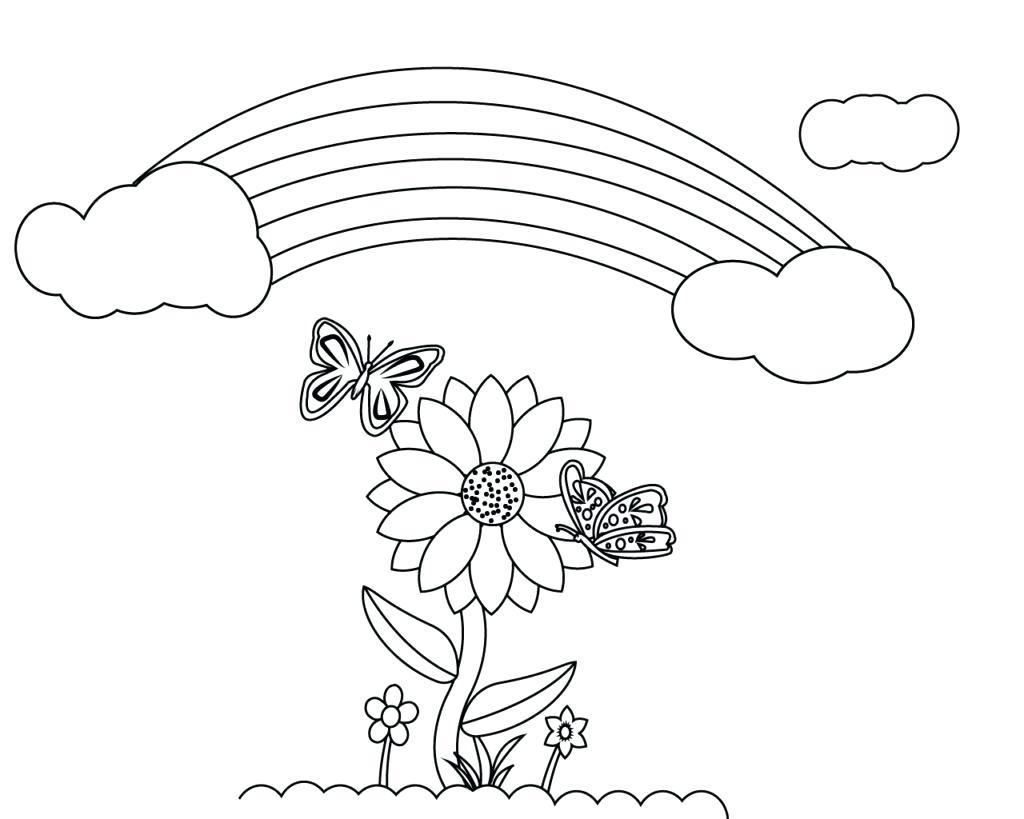 Tranh vẽ tô màu bông hoa hướng dương dễ thương