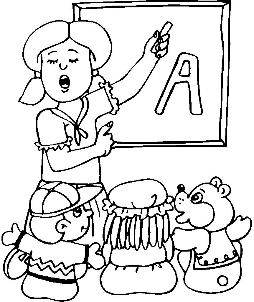 Tranh vẽ tô màu cô giáo đẹp cho bé