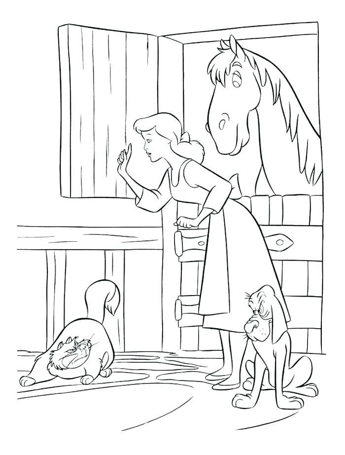 Tranh vẽ tô màu công chúa lọ lem cho bé