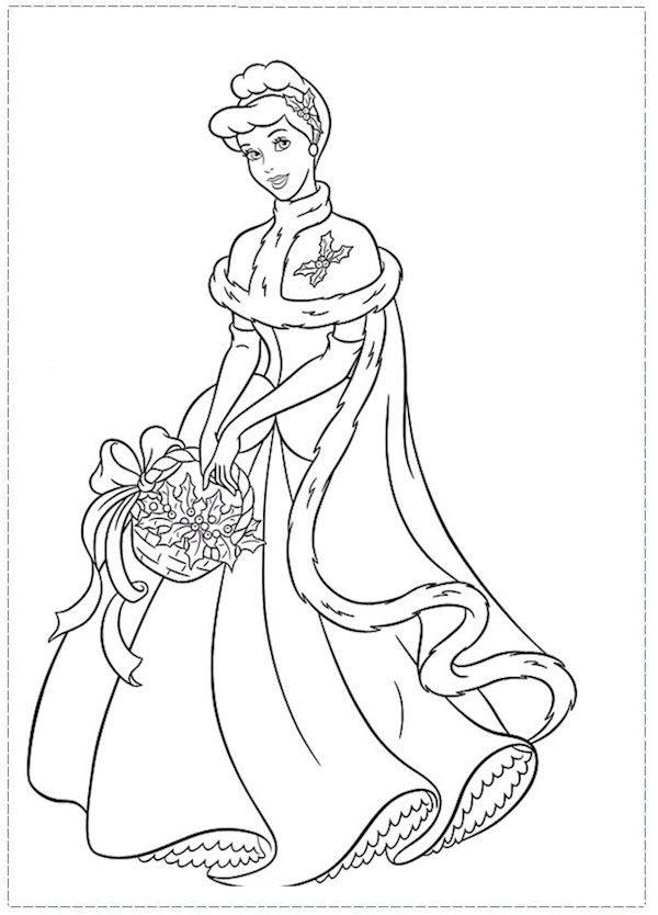 Tranh vẽ tô màu công chúa lọ lem đẹp