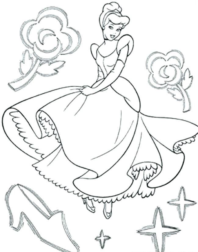 Tranh vẽ tô màu công chúa lọ lem đơn giản đẹp nhất