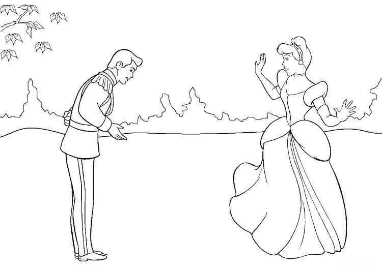 Tranh vẽ tô màu công chúa lọ lem ngộ nghĩnh cho bé