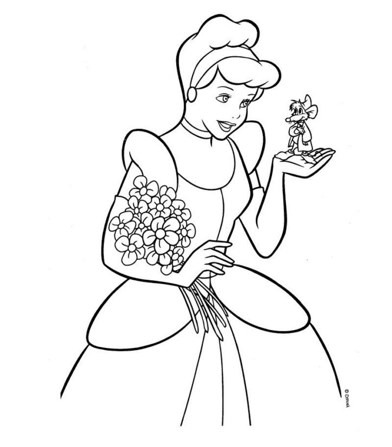 Tranh vẽ tô màu công chúa lọ lem