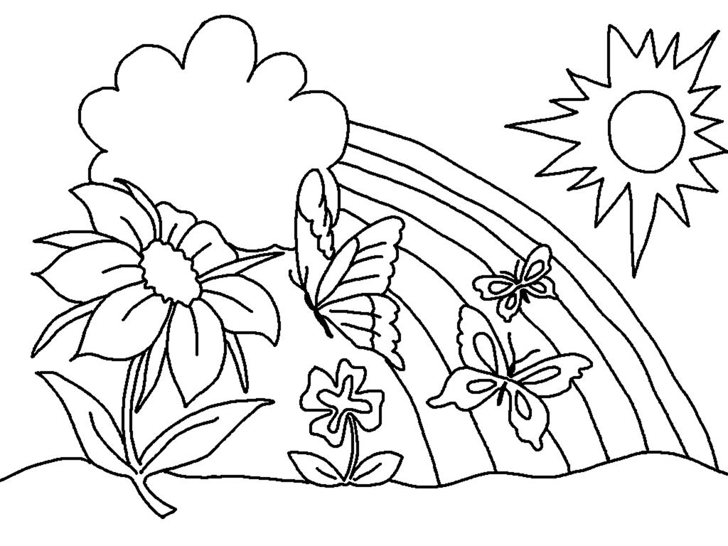 Tranh vẽ tô màu thiên nhiên đơn giản cho bé