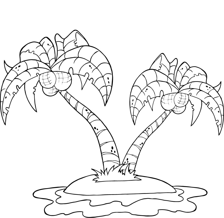 Tranh vẽ tô màu thiên nhiên phong cảnh đơn giản cho bé