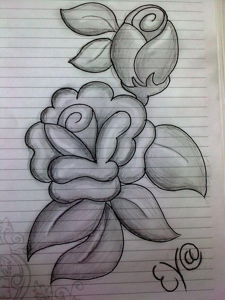 Ảnh vẽ hình hoa hồng bằng bút chì