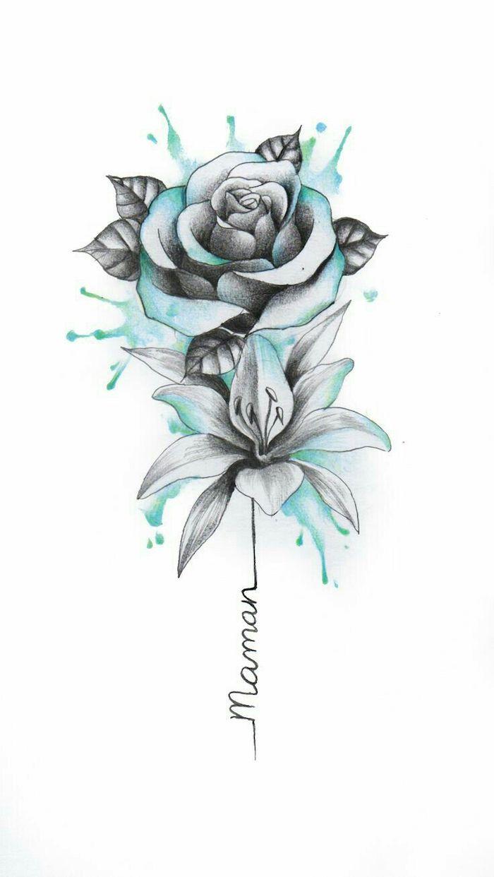 Tranh chì vẽ hình hoa hồng hình ảnh đẹp nhất