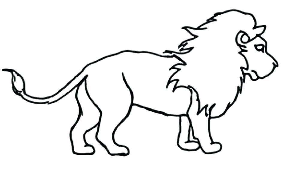 Tranh sư tử tô màu