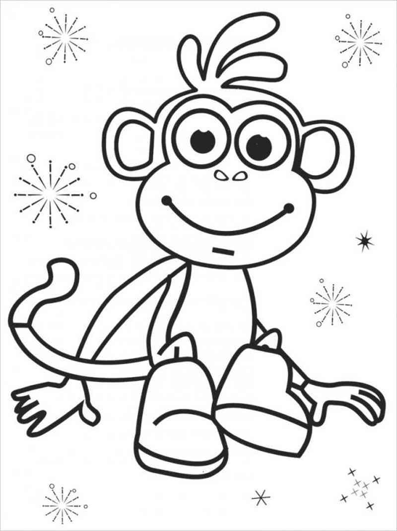 Tranh tô màu chú khỉ