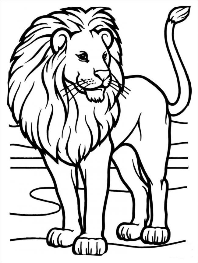 Tranh tô màu chú sư tử