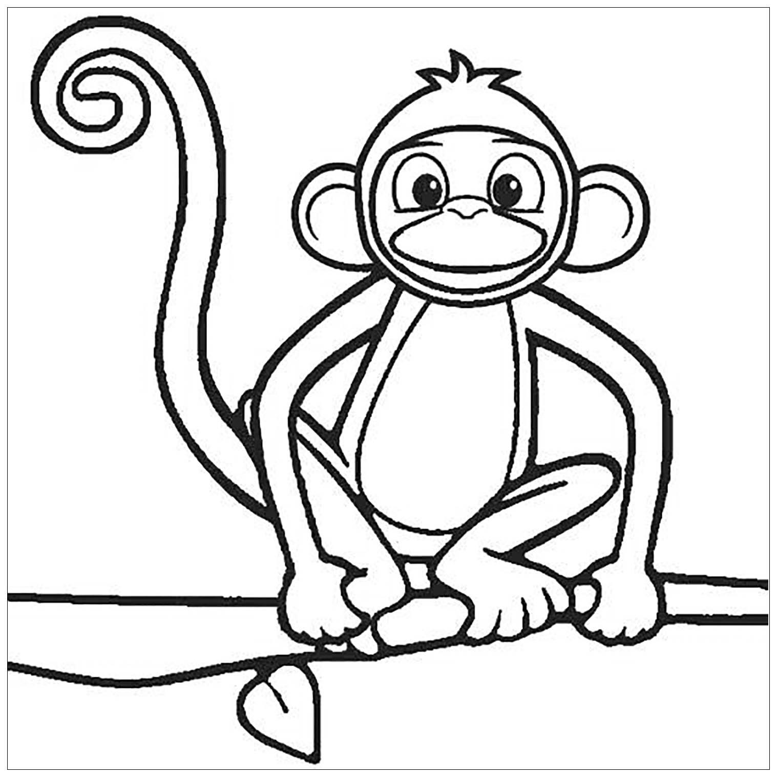 Tranh tô màu con khỉ đẹp nhất