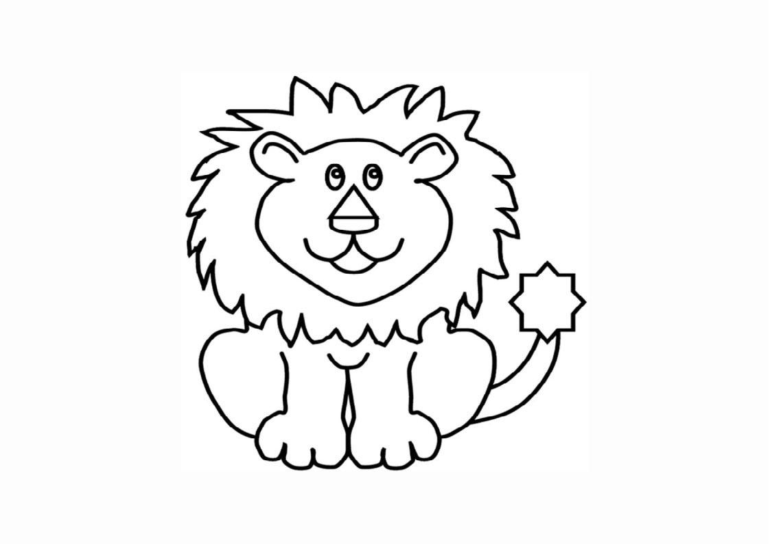 Tranh tô màu con sư tử đang ngồi