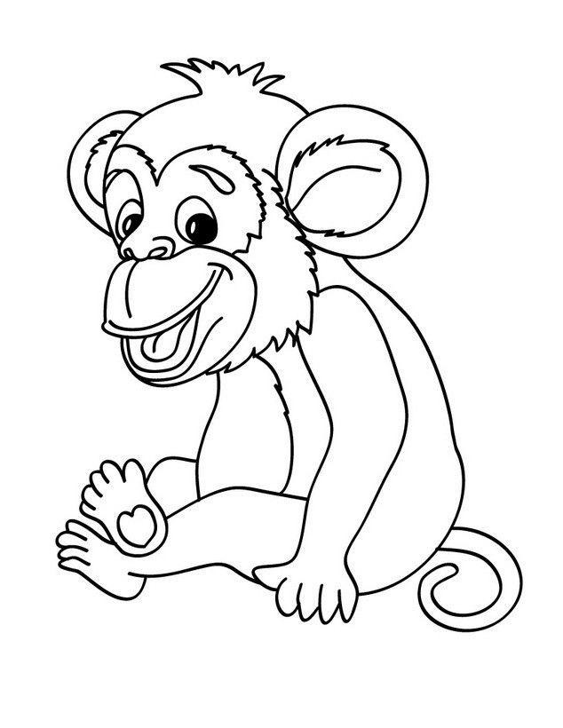 Tranh tô màu hình con khỉ