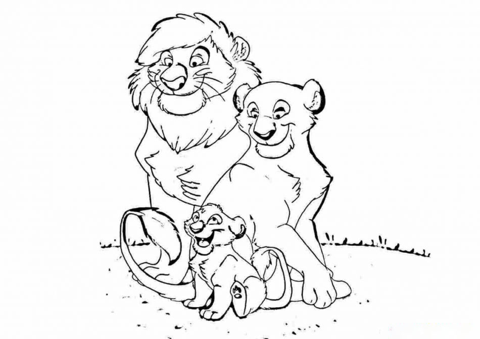 Tranh tô màu hoạt hình vua sư tử