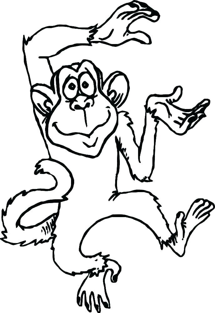 Tranh tô màu khỉ hài hước