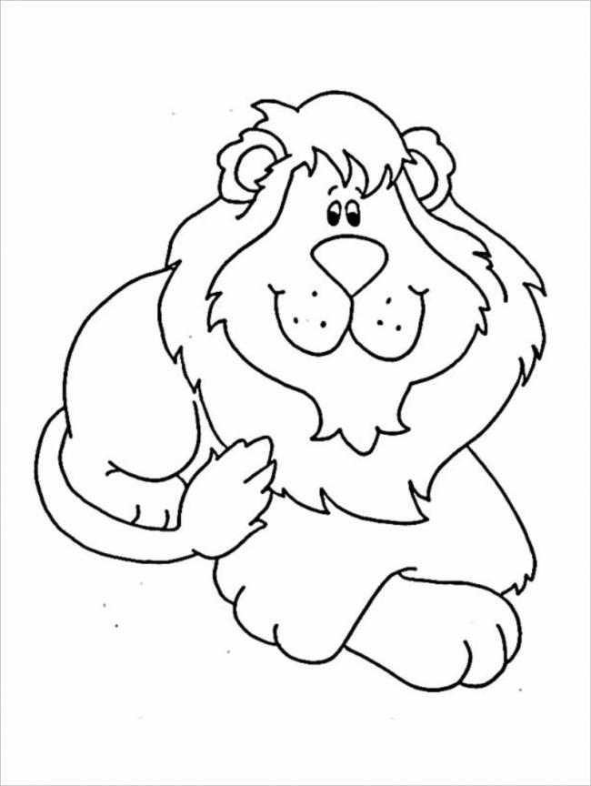 Tranh tô màu sư tử dành cho bé